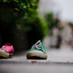 pink and green sneekers