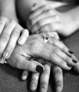hands black and white